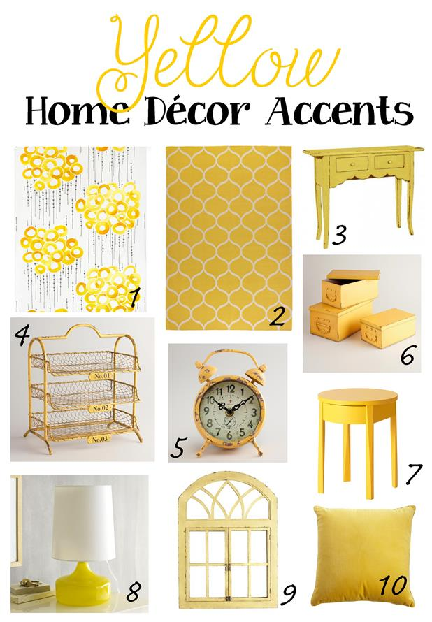 1 Stockholm Fabric Ikea 2 Rug 3 Emily Console Table Home Decorators 4 Yellow Austin Tier Wire Tray World Market 5