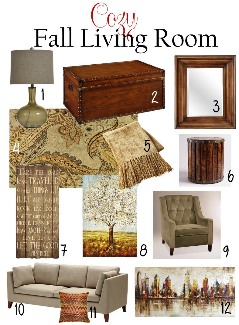 Cozy fall living room brass and whatnots for 7 cosy living room looks for autumn