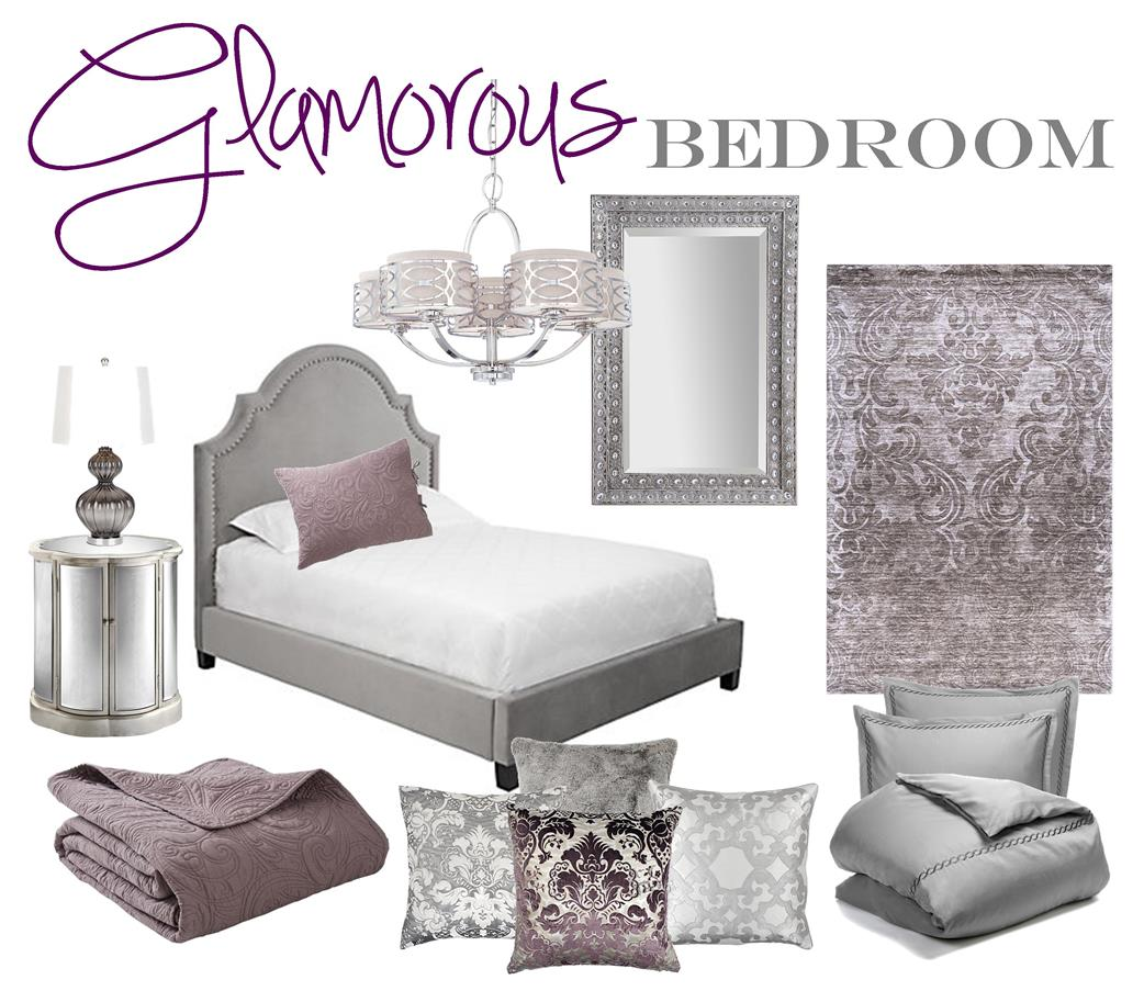 Glamorous Bedroom Mood Board - Brass and Whatnots