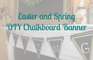 DIY Spring Wood Pennant Banner