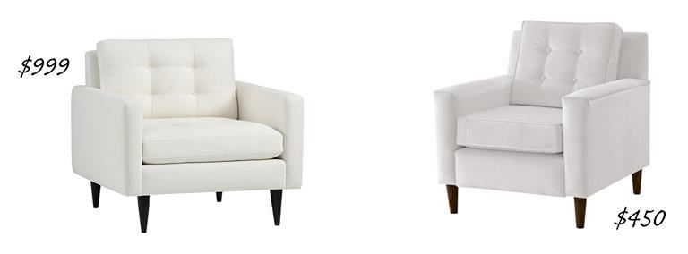 Petrie Chair In Camden: Snow U2013 $999, Crate U0026 Barrel