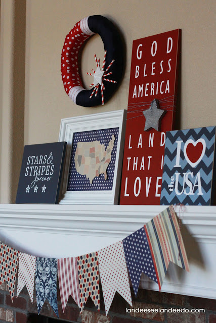 4th+of+July+mantel+1