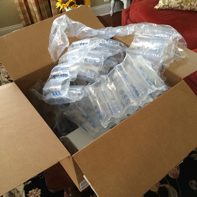 Amazon c'mon... Three little items and you send me this massive box filled with sealed air? Geez.