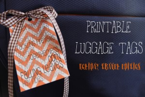 Printable Luggage Tags: Holiday Travel Edition