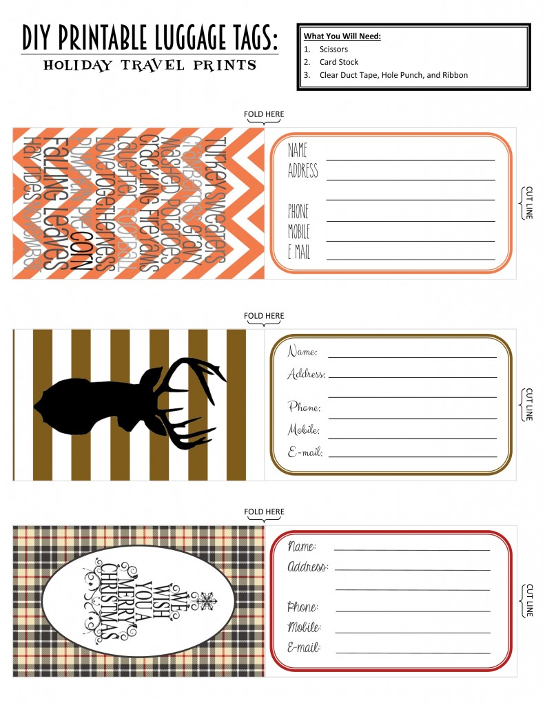 Printable Luggage Tags 2