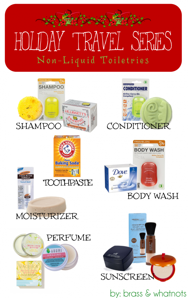 non-liquid toiletries