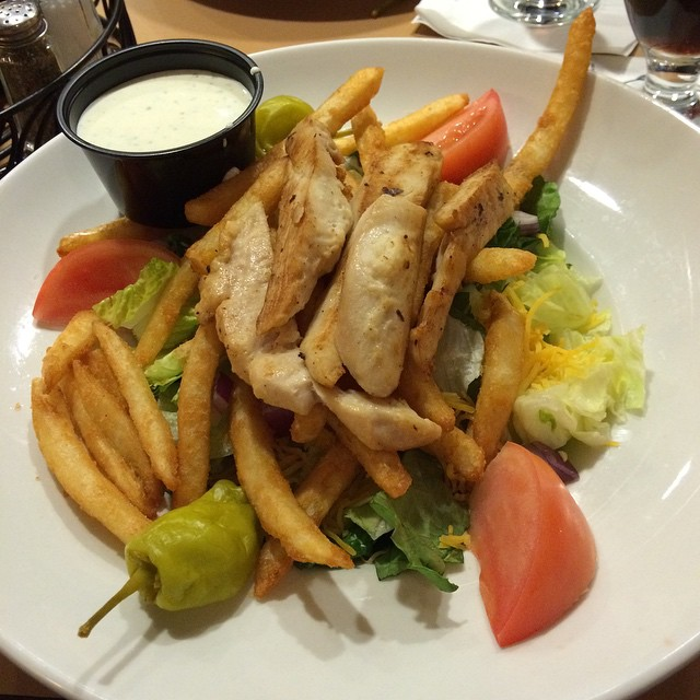 Only in Pittsburgh would they put fries on a salad...