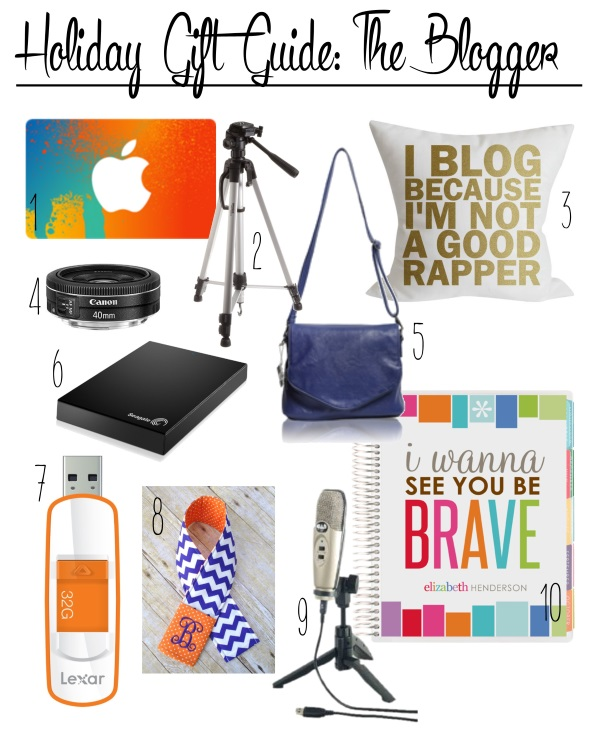 holiday gift guide - the blogger
