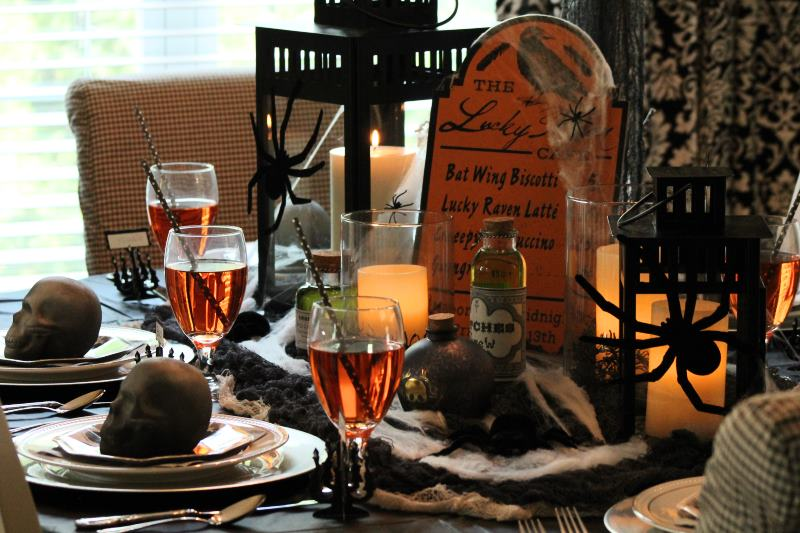 Spooky, but Sophisticated Halloween Party Tablescape