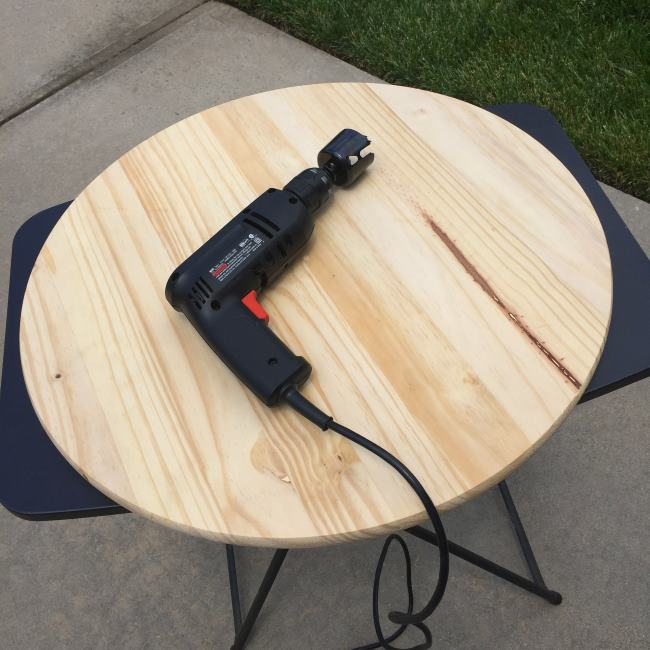 diy umbrella stand drilling