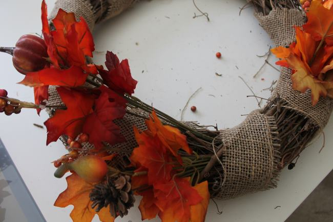dollar tree fall wreath add floral