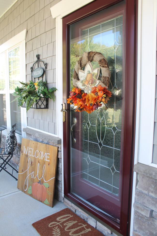dollar tree fall wreath porch decor